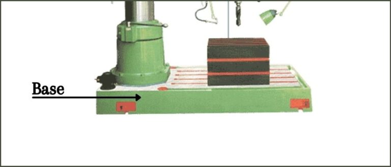 Base Of The Radial Drilling Machine