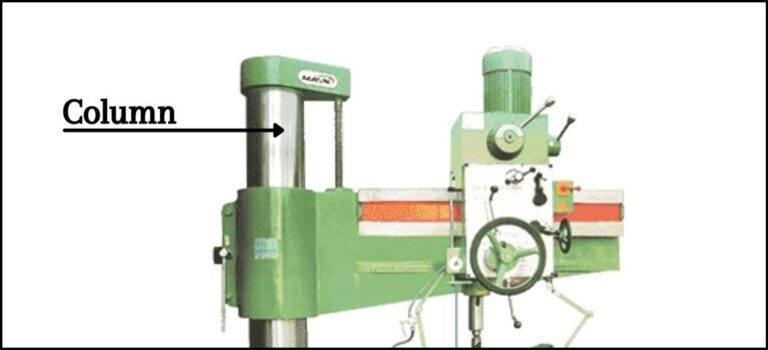Column Of The Radial Drilling Machine
