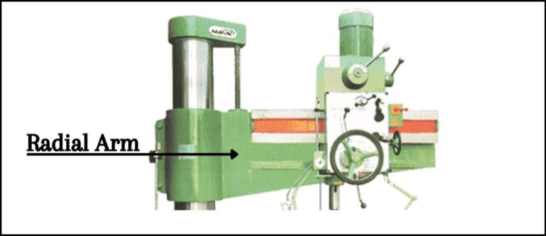 Radial Arm Of The Radial Drill Machine