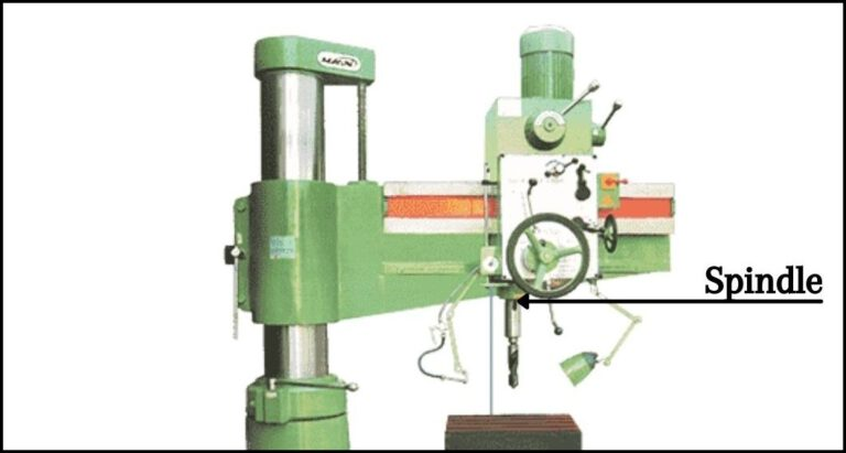 Spindle Of The Radial Drilling Machine