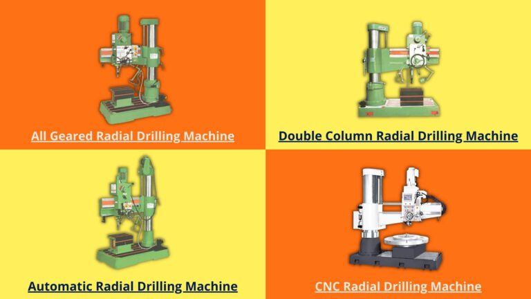 Types of Radial Drilling Machine by Features