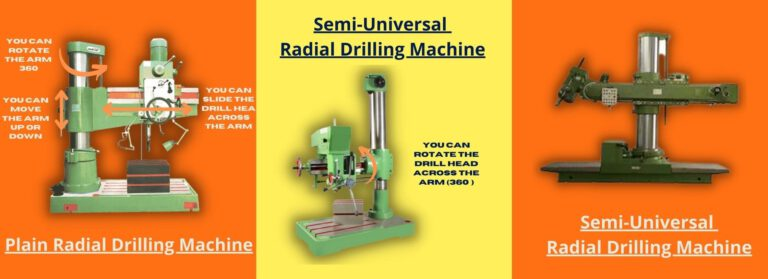 Types of Radial Drilling Machine by Structure