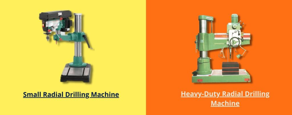 Types of Radial Drilling Machine by Usage