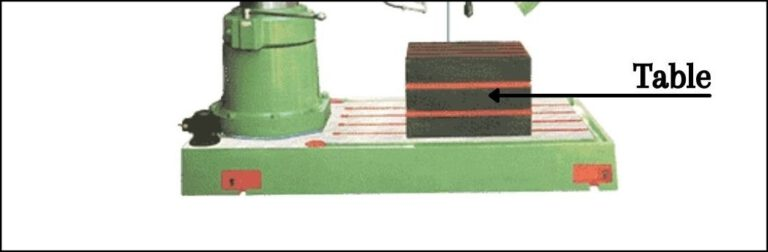 Worktable Of The Radial Drilling Machine